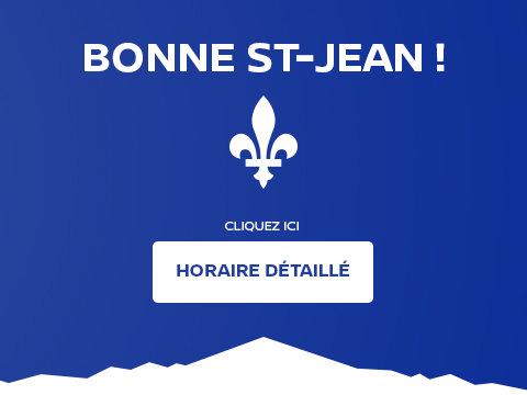 Horaire Saint-Jean-Baptiste