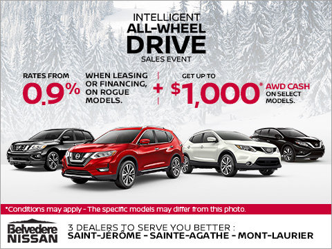 Nissan's All-Wheel Drive Sales Event!