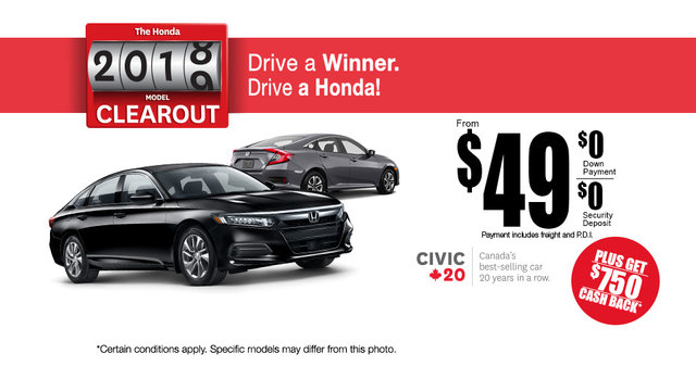 Honda Clearout Event! (mobile)