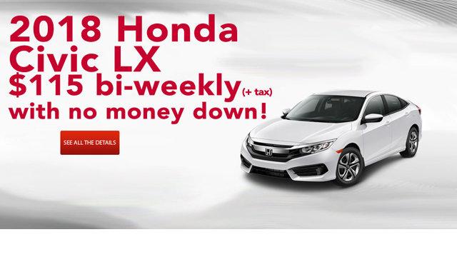 Civic LX $115 biweekly plus tax
