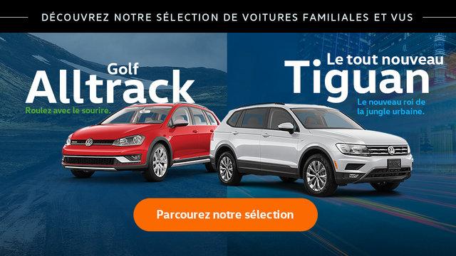 Découvrez notre sélection de voitures familiales et VUS (Mobile)