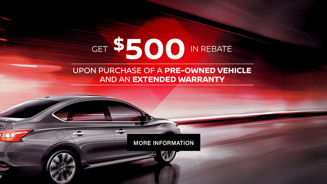 Nissan pre-owned promotion (mobile)