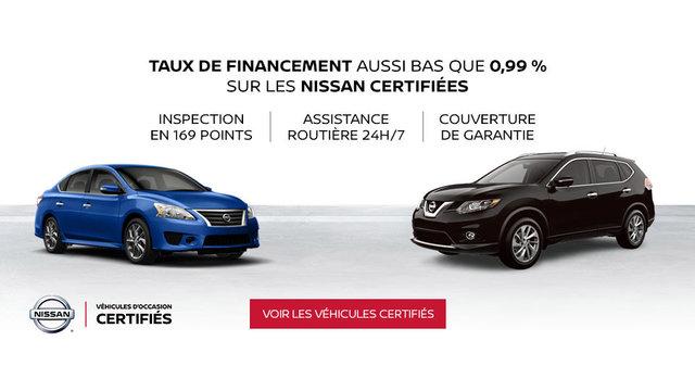 Véhicules d'occasion certifiés Nissan (mobile)