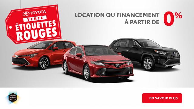 Vente Étiquettes Rouges Toyota (mobile)