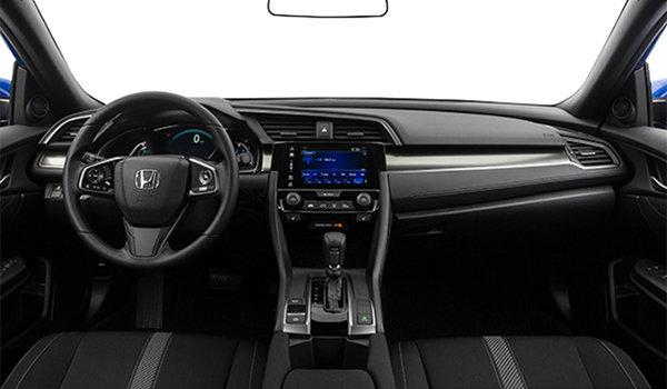 2017 Honda Civic hatchback LX   Photo 3   Black Fabric