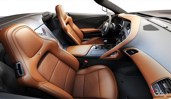 2018 Chevrolet Corvette Convertible Stingray 2LT | Photo 1 | Kalahari GT buckets Leather seating surfaces with sueded microfiber inserts (344-AQ9)