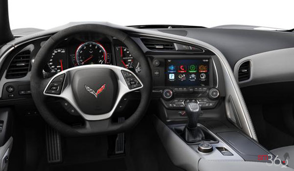 2018 Chevrolet Corvette Convertible Stingray 2LT | Photo 3 | Grey Competition Sport buckets Leather seating surfaces with sueded microfiber inserts (144-AE4)