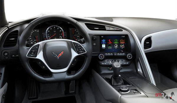 2018 Chevrolet Corvette Coupe Stingray 3LT | Photo 3 | Grey GT buckets Leather seating surfaces with sueded microfiber inserts (146-AQ9)