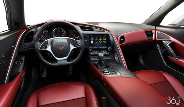2018 Chevrolet Corvette Coupe Stingray 3LT | Photo 2 | Adrenaline Red GT buckets Leather seating surfaces with sueded microfiber inserts (706-AQ9)