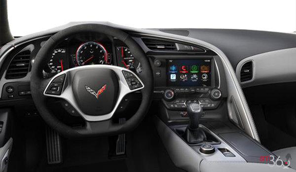 2018 Chevrolet Corvette Coupe Stingray 3LT | Photo 3 | Grey Competition Sport buckets Leather seating surfaces with sueded microfiber inserts (146-AE4)