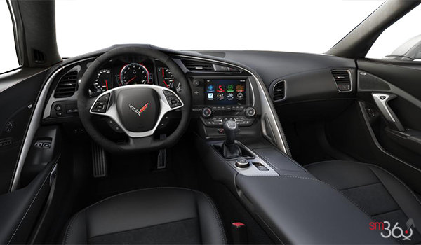 2018 Chevrolet Corvette Coupe Stingray 3LT | Photo 2 | Jet Black Competition Sport buckets Leather seating surfaces with sueded microfiber inserts (196-AE4)