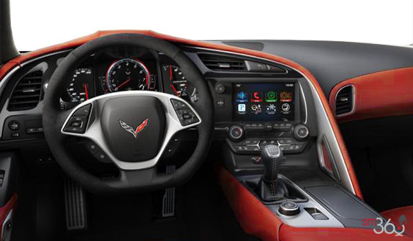 2018 Chevrolet Corvette Coupe Stingray 3LT | Photo 3 | Adrenaline Red Competition Sport buckets Leather seating surfaces with sueded microfiber inserts (706-AE4)
