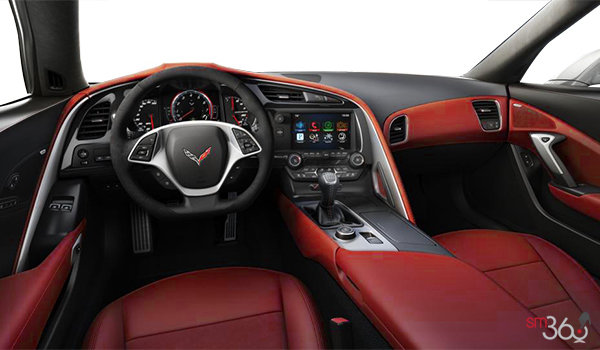 2018 Chevrolet Corvette Coupe Stingray 3LT | Photo 2 | Adrenaline Red Competition Sport buckets Leather seating surfaces with sueded microfiber inserts (706-AE4)