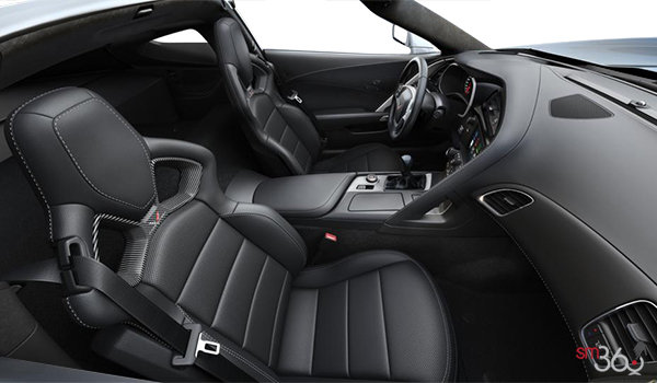 2018 Chevrolet Corvette Coupe Stingray 3LT | Photo 1 | Jet Black Competition Sport buckets Perforated Mulan leather seating surfaces (195-AE4)