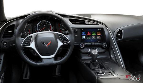 2018 Chevrolet Corvette Coupe Stingray Z51 1LT | Photo 3 | Jet Black GT buckets Perforated Mulan leather seating surfaces (191-AQ9)