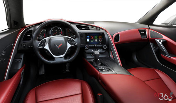 2018 Chevrolet Corvette Coupe Stingray Z51 1LT | Photo 2 | Adrenaline Red GT buckets Perforated Mulan leather seating surfaces (701-AQ9)