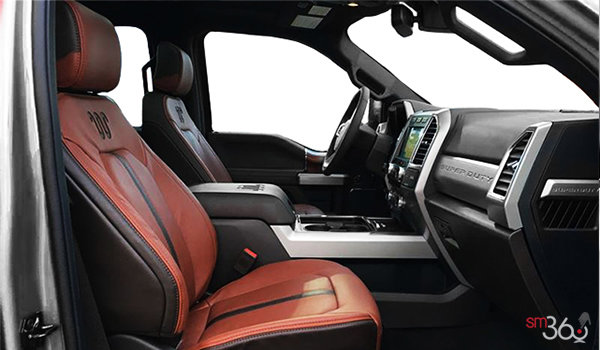 2018 Ford Super Duty F-250 KING RANCH   Photo 1   Unique King Ranch Java Kingsville Brown Leather Captain's Chairs (SP)