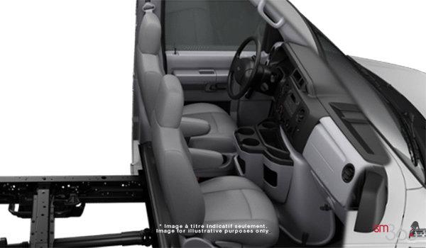 2018 Ford E-Series Cutaway 350 | Photo 1 | Medium Flint Cloth Captain's Chairs (ME)