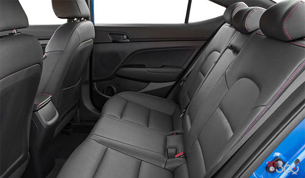 2018 Hyundai Elantra Sport TECH | Photo 2 | Black Leather w/Red Stitching
