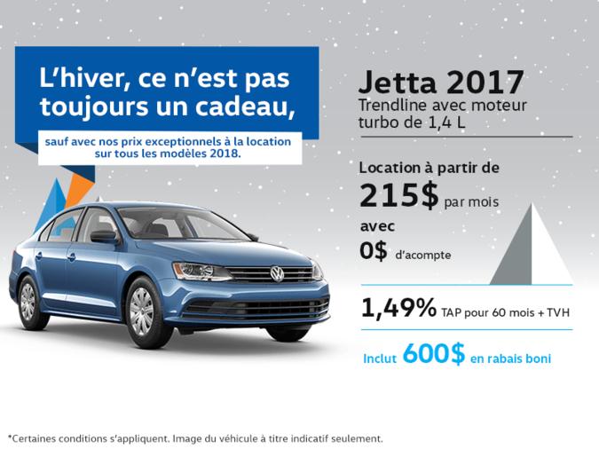 Obtenez la Jetta 2017 dès aujourd'hui!