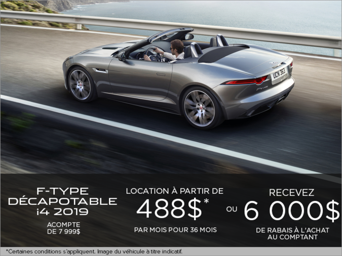 La Jaguar F-TYPE Décapotable i4T 2019