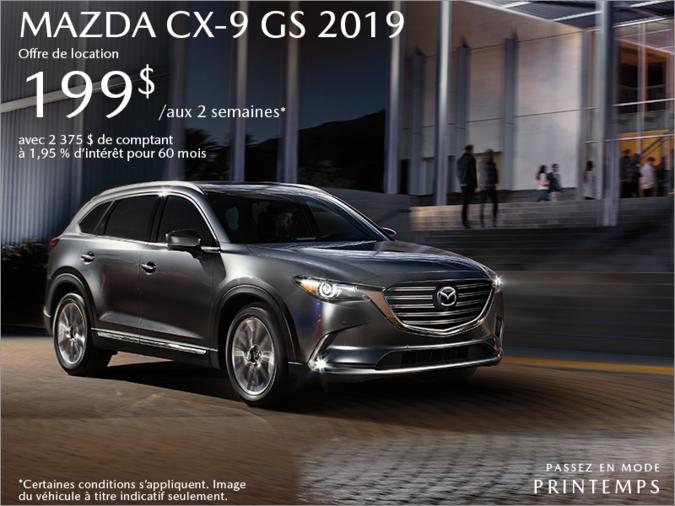 Procurez-vous le Mazda CX-9 2019 aujourd'hui!