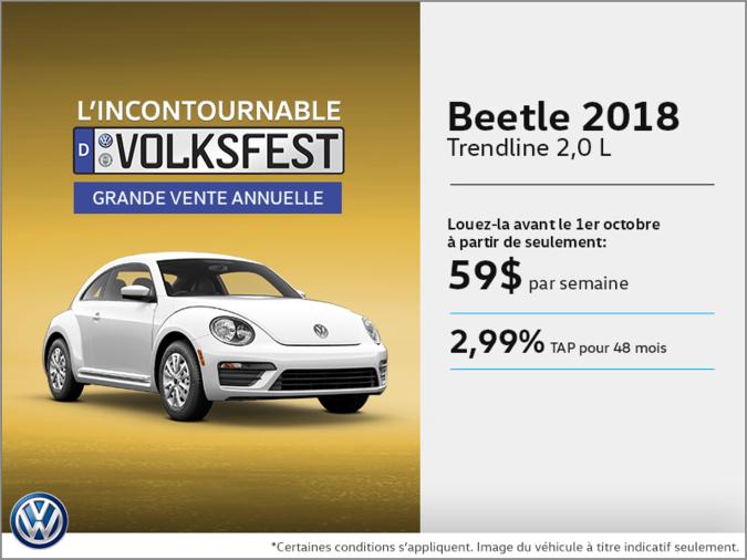 Conduisez la Beetle 2018 dès aujourd'hui!