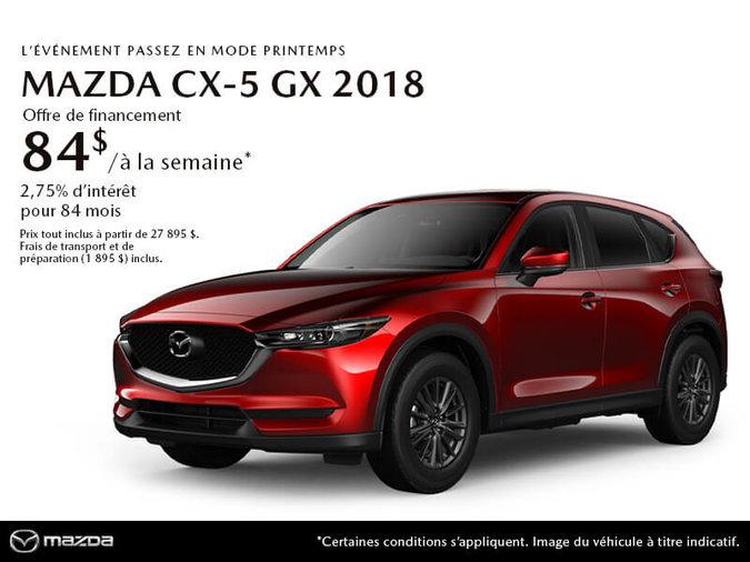 PROCUREZ-VOUS LE MAZDA CX-5 GX 2018 AUJOURD'HUI!
