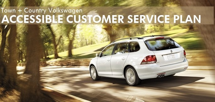 Town + Country Volkswagen Accessibility Promise