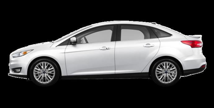 2017 Ford Focus Sedan TITANIUM | Photo 4 | White Platinum Metallic