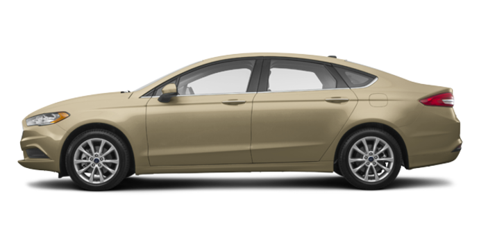 2017 Ford Fusion S   Photo 4   White Gold