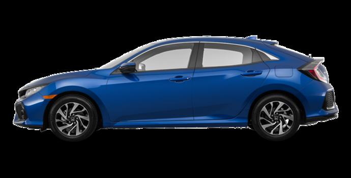 2017 Honda Civic hatchback LX   Photo 4   Aegean Blue Metallic