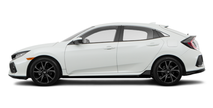 2017 Honda Civic hatchback SPORT   Photo 4   White Orchid Pearl