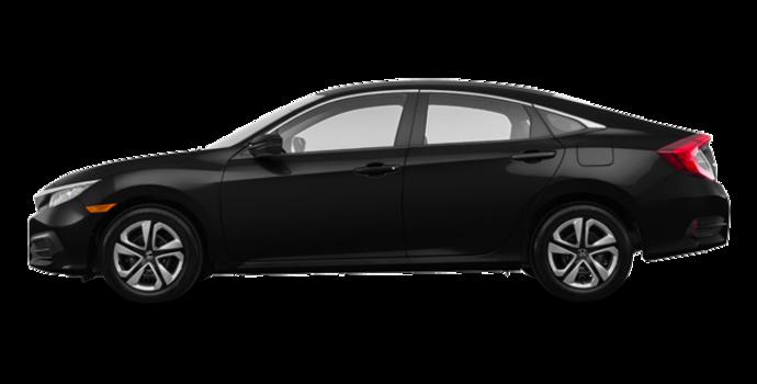 2017 Honda Civic Sedan LX-HONDA SENSING | Photo 4 | Crystal Black Pearl
