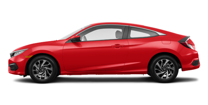 2017 Honda Civic Coupe LX-HONDA SENSING | Photo 4 | Rallye Red