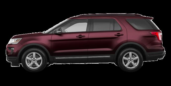 2018 Ford Explorer XLT | Photo 4 | Burgundy Velvet Metallic