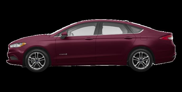 2018 Ford Fusion Hybrid SE   Photo 4   Burgundy Velvet