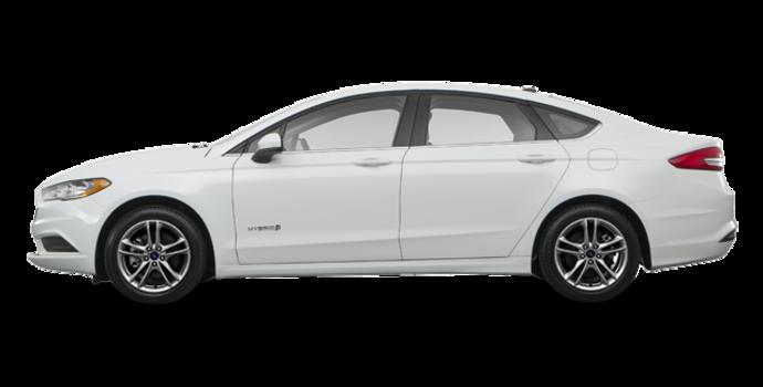 2018 Ford Fusion Hybrid SE   Photo 4   White Platinum