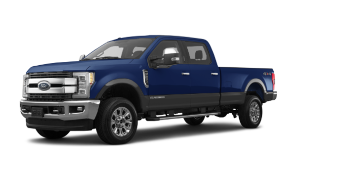 2018 Ford Super Duty F-250 KING RANCH   Photo 6   Blue Jeans /Stone Grey