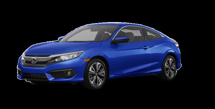 2018 Honda Civic Coupe EX-T HONDA SENSING   Photo 6   Aegean Blue Metallic