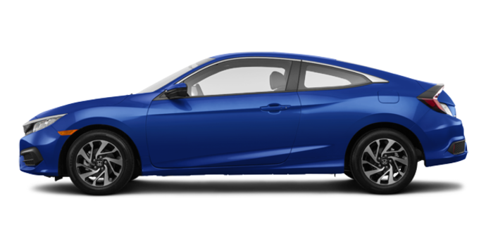 2018 Honda Civic Coupe LX   Photo 4   Aegean Blue Metallic