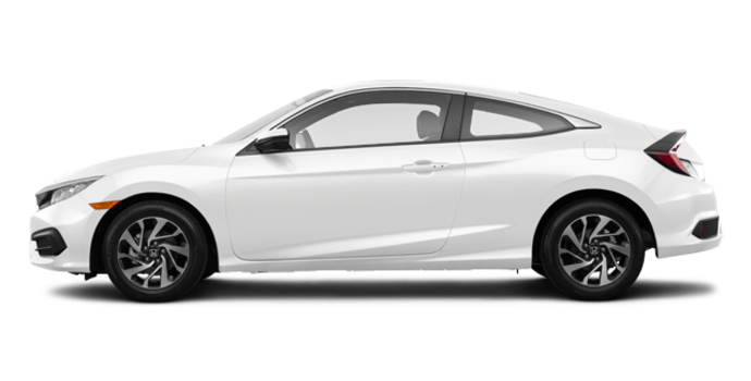 2018 Honda Civic Coupe LX   Photo 4   Taffeta White