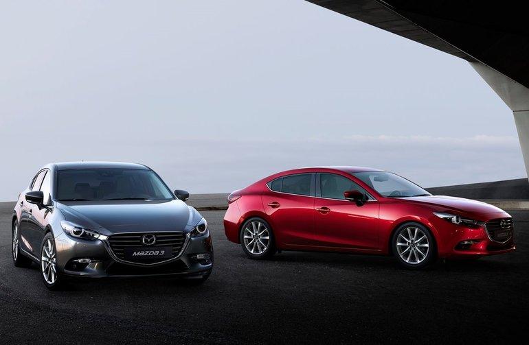 La Mazda3 2017 s'approche des Maritimes