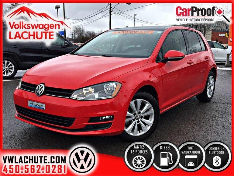 2015 Volkswagen Golf COMFORTLINE+TDI+TOIT+AIR 2 ZONES+