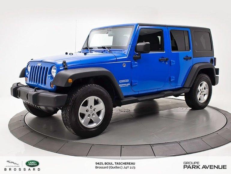 Jeep Wrangler Unlimited Sport | BAS KILOMÉTRAGE + 2 TOITS 2011