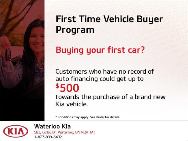 First Time Vehicle Buyer Program Waterloo Kia
