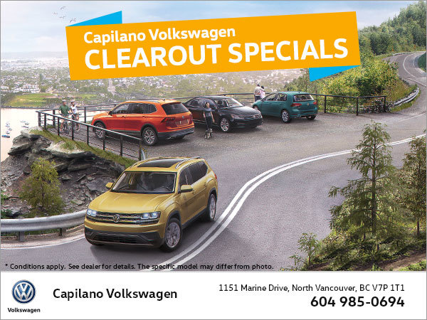 Capilano VW Clearout Specials!