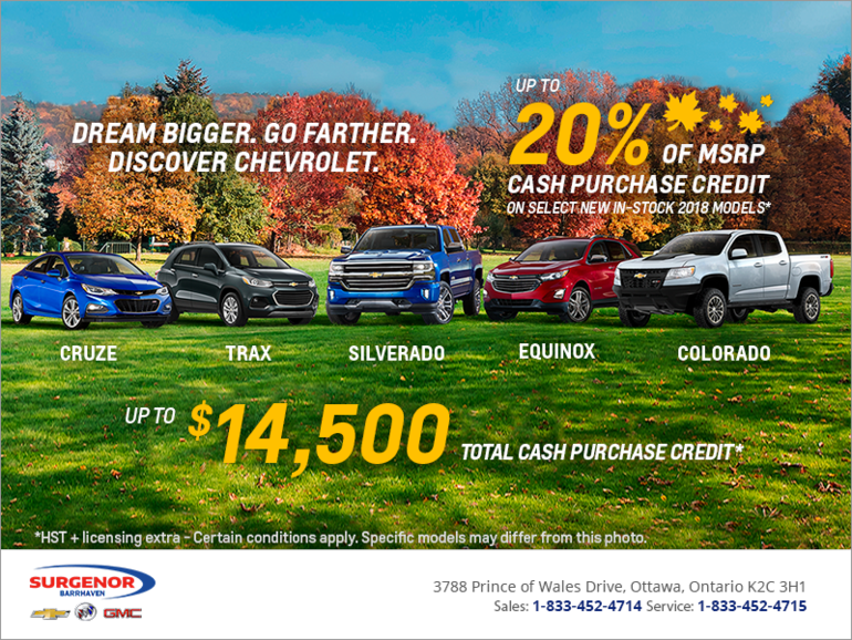 Dream Bigger. Go Farther. Discover Chevrolet.