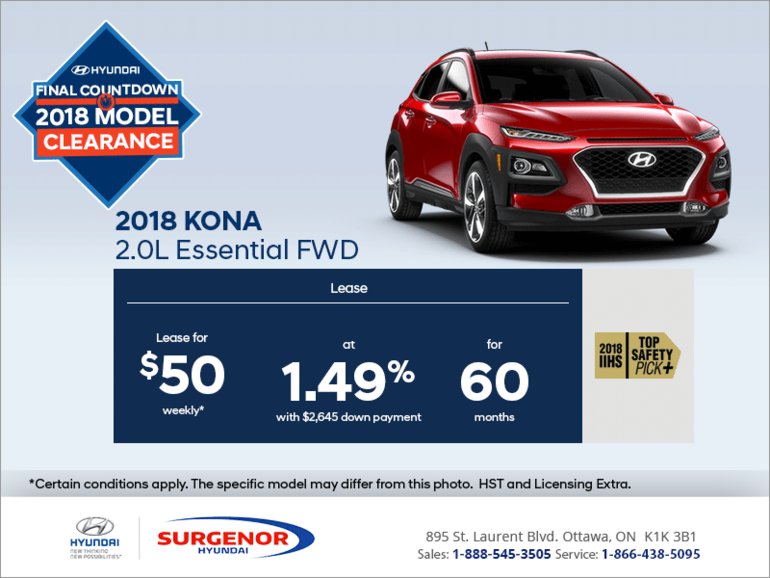 Lease the 2018 Kona!