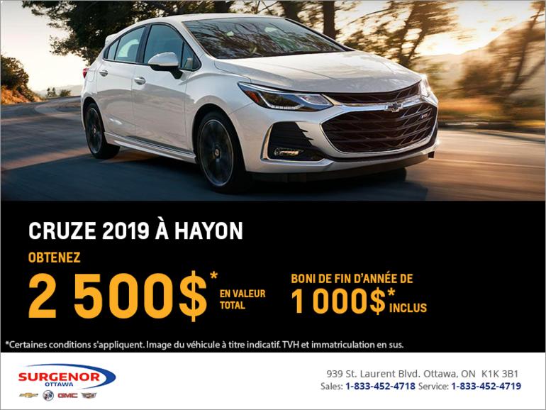 Chevrolet Cruze à hayon 2019